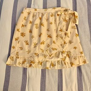 Madewell floral wrap skirt